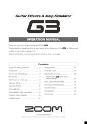 Zoom g1xon manuals.