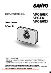 sanyo xacti vpc e6 manuals rh manualslib com