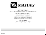 Maytag pav2300agw Use & Care Manual And Installation Instructions