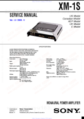 sony xm 1s manuals rh manualslib com sony xplod xm-zr604 manual sony xplod xm-zr604 manual