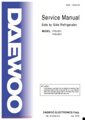 Daewoo FRS-2031 Manuals
