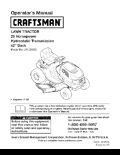 Craftsman LT 3000 Operator's Manual