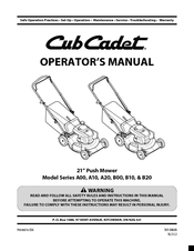 CUB CADET A00 SERIES OPERATOR'S MANUAL Pdf Download