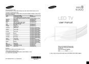 Samsung UN65F6300 User Manual