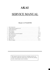 akai lct42z6tm manuals rh manualslib com