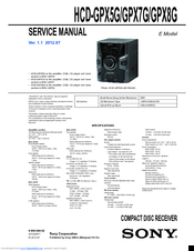 sony hcd bx20i user manual