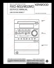 Kenwood RXD-M33 Service Manual