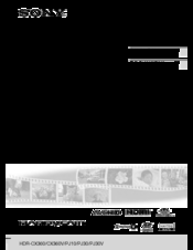 Sony Handycam HDR-PJ30 Manuals