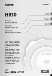 Canon HR10 Instruction Manual