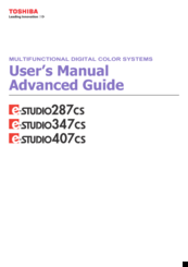 Toshiba e-STUDIO407CS Serie Manuals