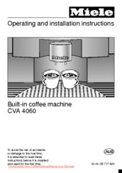 miele cva 4060 manuals rh manualslib com miele cva 610 service manual miele cva 615 service manual