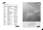 Samsung PS42A450 User Manual