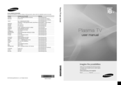 Samsung PS50C687 User Manual