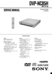 sony dvp nc85h hdmi cd progressive scan dvd changer manuals rh manualslib com sony cd/dvd player dvp-nc85h manual sony dvp nc85h service manual