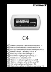 Komfovent C4 Manuals