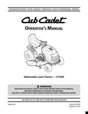 Cub Cadet LT1050 Manuals