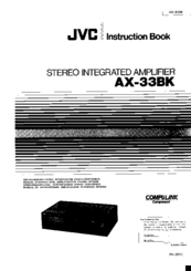 JVC AX-33BK Instruction Book