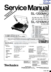 technics sl 1200mk2 service manual pdf download rh manualslib com Technics 1200 MK6 technics sl 1200 mk5 service manual