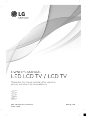 LG 32LM3400-ZA Owner's Manual
