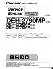 Pioneer DEH-2750MP Manuals