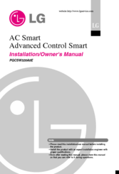 LG Smart AC Installation And Owner's Manual