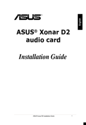 Asus Audio Card Xonar D2 Installation Manual