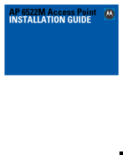 Motorola AP 6522M Installation Manual