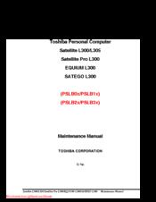 toshiba satellite l300 maintenance manual pdf download rh manualslib com Toshiba Satellite Keyboard Toshiba Satellite Pro S300