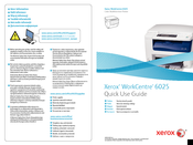 Xerox WorkCentre 6025 Quick Use Manual