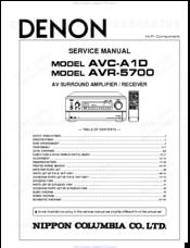 DENON AVC-A1D SERVICE MANUAL Pdf Download