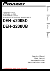 Pioneer DEH-4200SD Operation Manual
