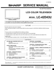 Sharp Aquos LC-42D~43U Service Manual