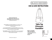Black & Decker BXHU090 Use & Care Instructions Manual