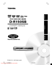 Toshiba D-R150SB Owner's Manual