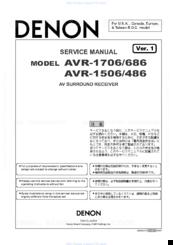 denon avr 686 manuals rh manualslib com Denon AVR 300 Manual Denon AVR- 1910 Remote Control