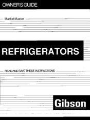 Gibson Market Master series Manuals