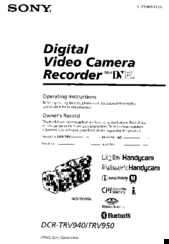 Sony DCR-TRV950 Operating Instructions Manual