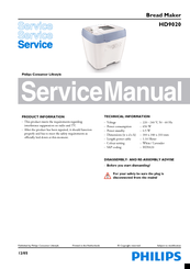 Philips HD9020 Service Manual