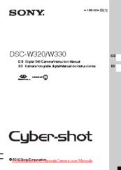 Sony cyber-shot dsc-w330 manuals.