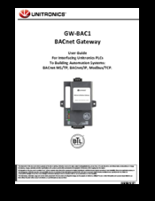 Unitronics GW-BAC1 Manuals