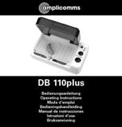 Amplicomms DB 110plus Operating Instructions Manual