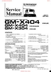 pioneer gm x404 service manual pdf download rh manualslib com
