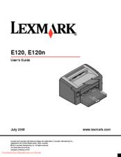Lexmark e120 user manual pdf download.