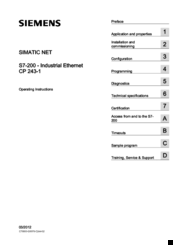 Siemens SIMATIC NET CP 243-1 Operating Instructions Manual