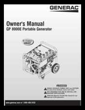 Generac Power Systems GP8000E Manuals