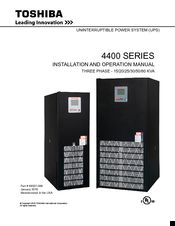 Toshiba 4400 Series Installation And Operation Manual