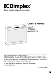 dimplex df2624l manuals dimplex df2624l owner s manual