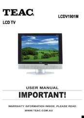 teac lcdv1901m manuals rh manualslib com teac tv user guide teac tv user guide