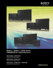 Sony BVM-E250 Manual