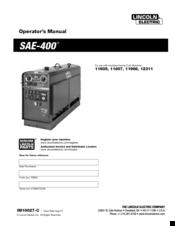 lincoln electric sae 400 operator s manual pdf download rh manualslib com 404D 22 Lincoln Electric Welding Machine SAE-300 Lincoln SAE 400 Parts